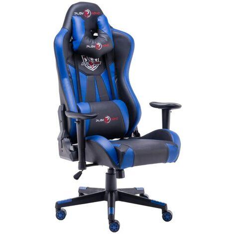 """main image of """"Chaise de bureau - chaise gaming - chaise gamer - ergonomique de style course avec grand dossier haut et coussin accoudoirs plus grands - play haha - Rouge"""""""
