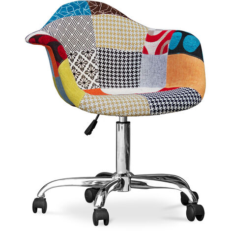 "main image of ""Chaise de bureau Darwick - Patchwork Patty Multicolore"""