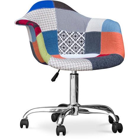 """main image of """"Chaise de bureau Darwick - Patchwork Pixi Multicolore"""""""