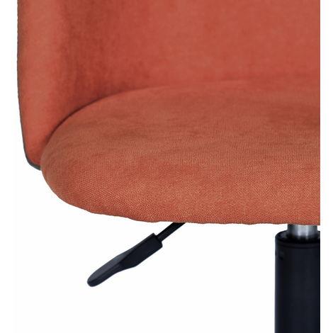 chaise de bureau de couleur orange