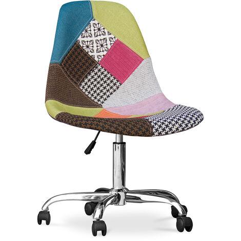 """main image of """"Chaise de bureau Deswick - Patchwork Simona Multicolore"""""""