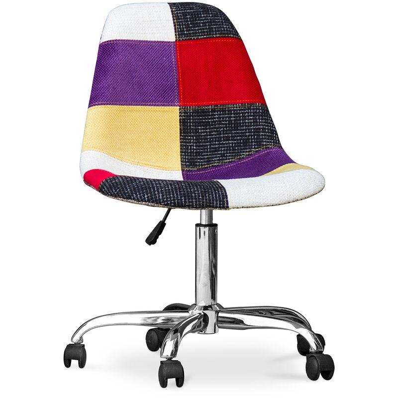 Chaise de bureau Deswick Patchwork Tessa Multicolore