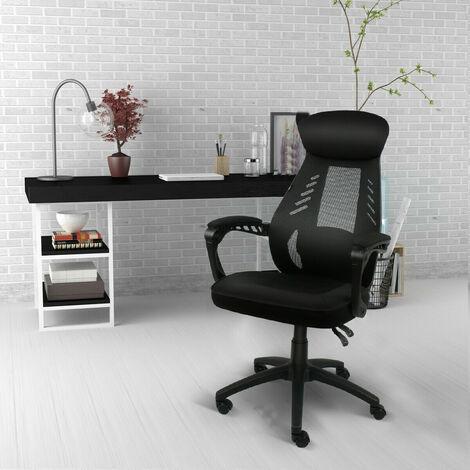 """main image of """"Chaise de bureau Dossier Haut grillagée Chaise à hauteur réglable Soutien lombaire"""""""