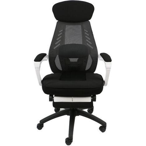 Chaise De Bureau en Maille Siège Ergonomique Hauteur Réglable Soutien Lombaire avec Capacité Maximal de