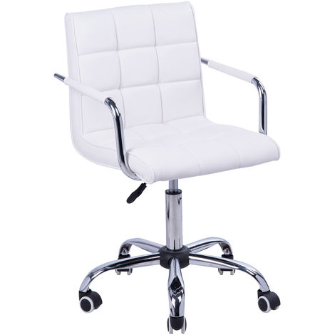 Chaise de bureau fauteuil manager pivotant blanc
