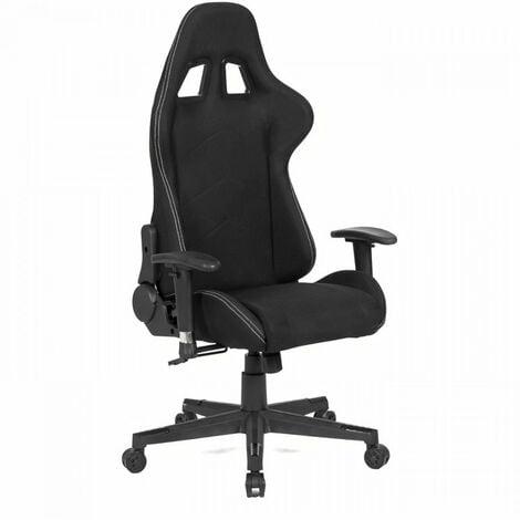 "main image of ""Chaise de bureau gaming - Tissu noir - L 64 x P 53 x H 122-134 cm - PREDATOR"""