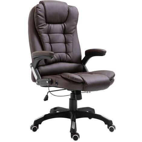 Chaise de bureau Marron Similicuir