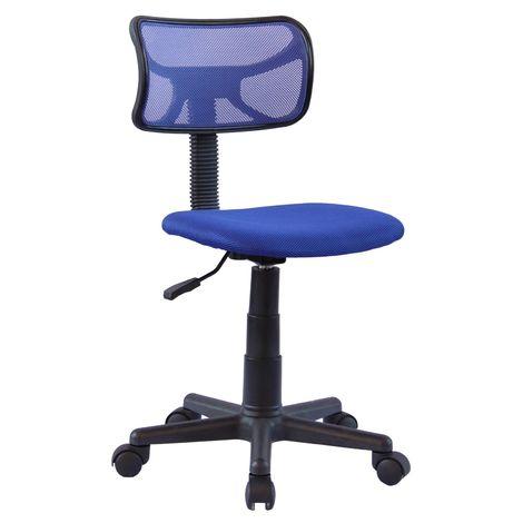 """main image of """"Chaise de bureau pour enfant MILAN fauteuil pivotant et ergonomique, siège à roulettes avec hauteur réglable, mesh bleu"""""""