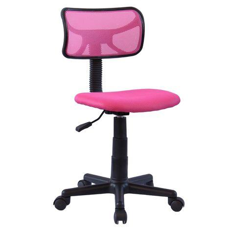 """main image of """"Chaise de bureau pour enfant MILAN fauteuil pivotant et ergonomique, siège à roulettes avec hauteur réglable, mesh rose"""""""