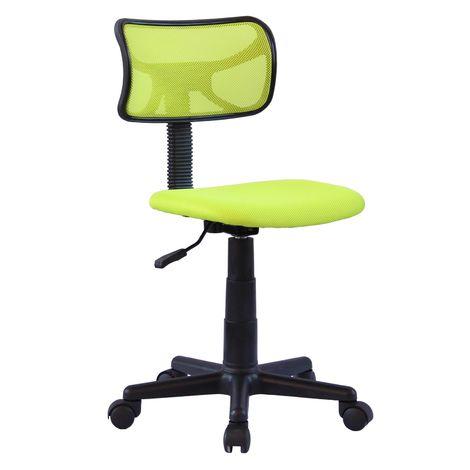 """main image of """"Chaise de bureau pour enfant MILAN fauteuil pivotant et ergonomique, siège à roulettes avec hauteur réglable, mesh vert"""""""