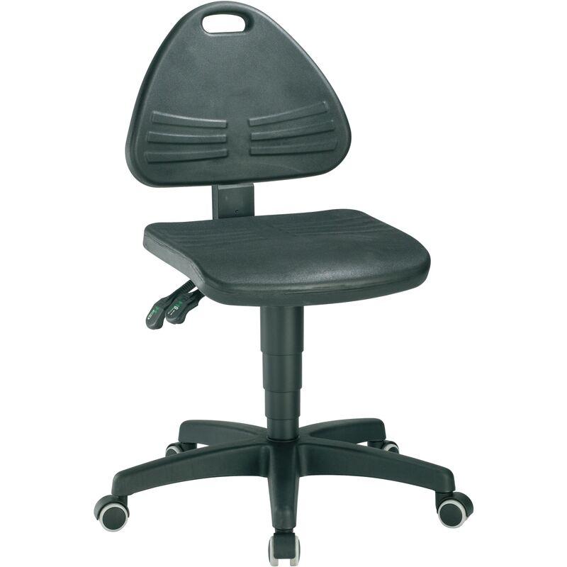 Interstuhl - Chaise d'atelier pivotante ISITEC roulettes mousse structurée noir 430-600 mm