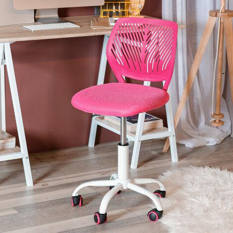 chaise de bureau rose avec dossier PP et assise sandwich