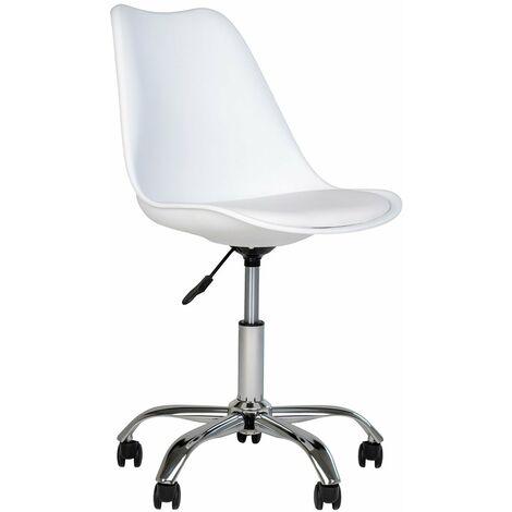 Chaise de bureau Stavanger blanc - Blanc