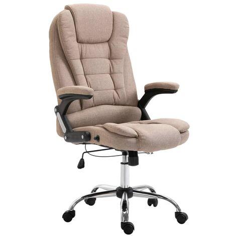 Chaise de bureau Taupe Polyester