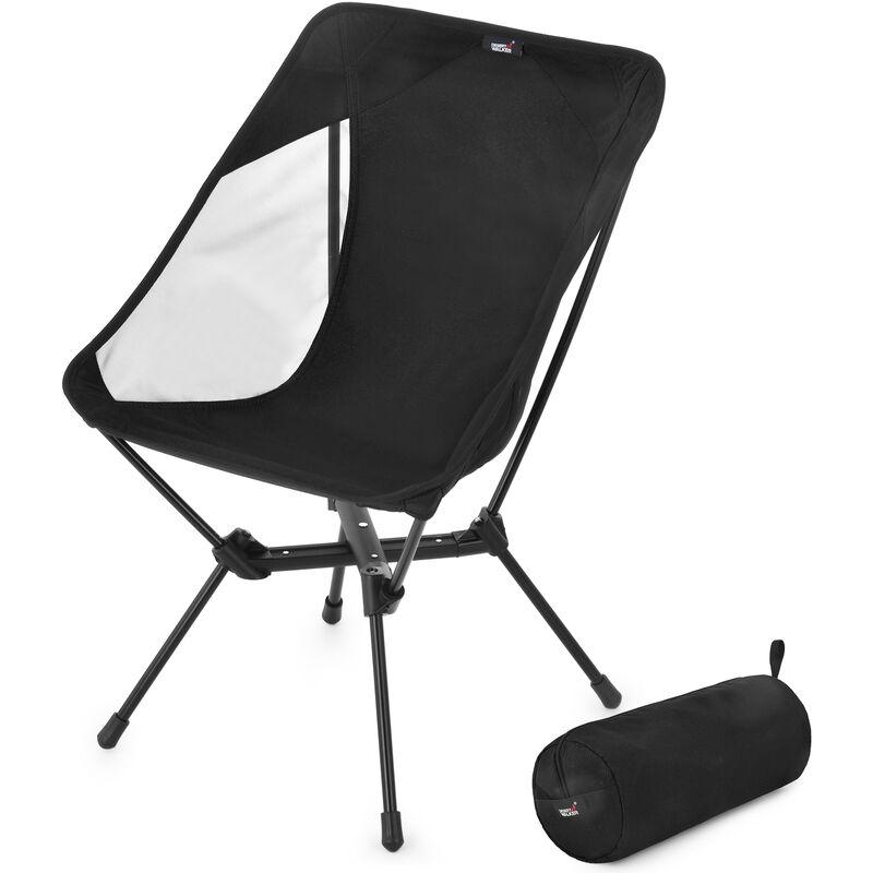 Chaise De Camping Chaise Pliante Portable Chaise De Randonnee Avec Sac De Rangement Pour Randonnee Exterieure Barbecue Voyage Pique-Nique, Noir