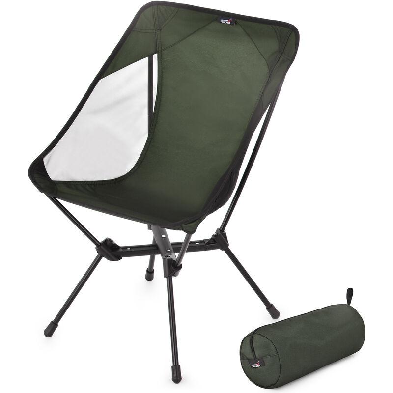 Chaise De Camping Chaise Pliante Portable Chaise De Randonnee Avec Sac De Rangement Pour Randonnee Exterieure Barbecue Voyage Pique-Nique, Vert