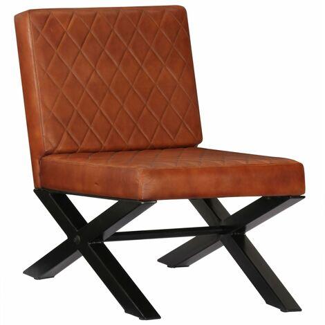 Chaise de canapé Marron Cuir véritable