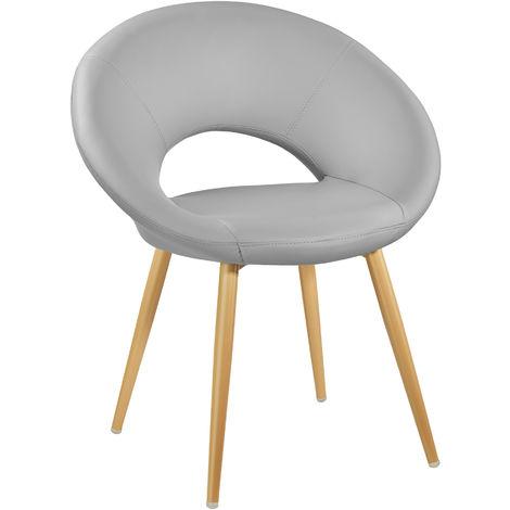 Chaise de Cuisine et de Salle à Manger Design scandinave Gris