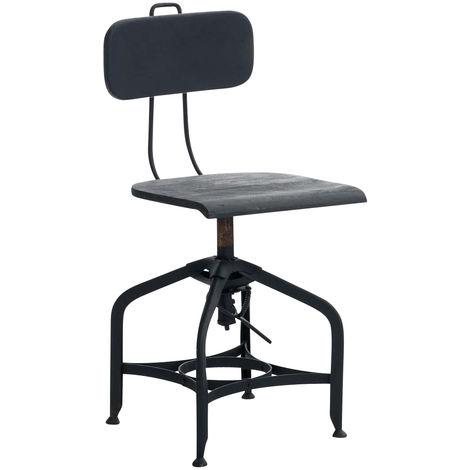 Chaise de cuisine Ranch noir