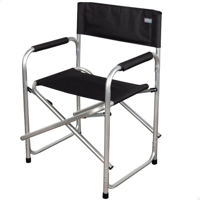 Chaise de directeur pliante noire Camping - Aktive
