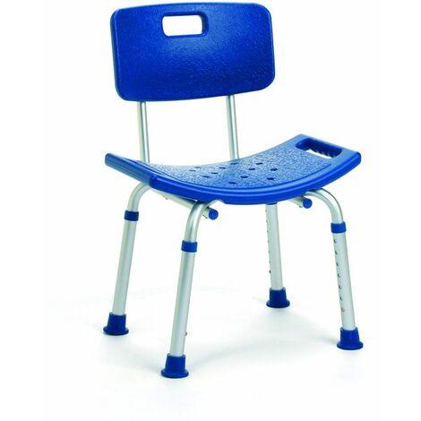 Chaise de douche avec dossier Lilly bleu - 34 à 46 cm - Bleu