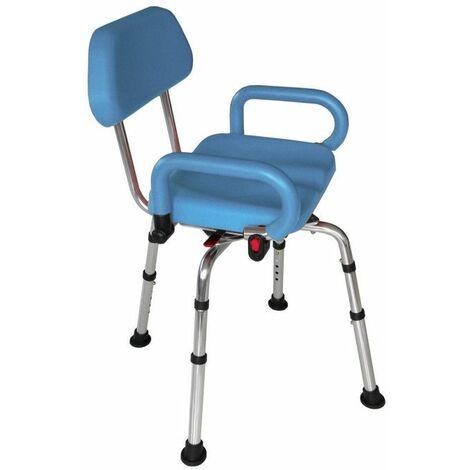 Chaise de douche pivotante Austra - 40 cm - Bleu