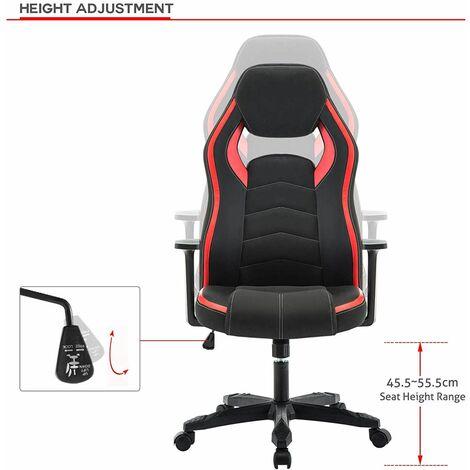 Chaise de Gamer Ergonomique, Fauteuil de Bureau Pivotant