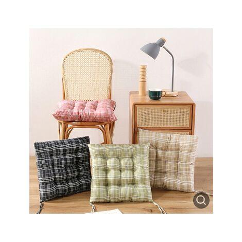 Chaise de jardin à bascule Chaise à dossier haut Coussins épais de coussin de siège de soleil extérieur