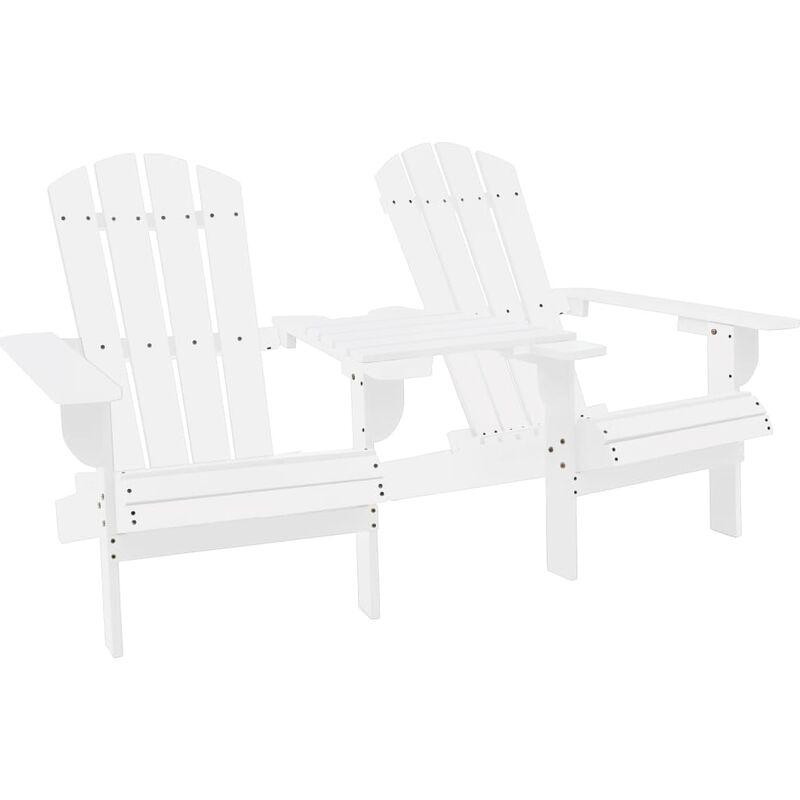 Zqyrlar - Chaise de jardin Adirondack Bois de sapin massif Blanc