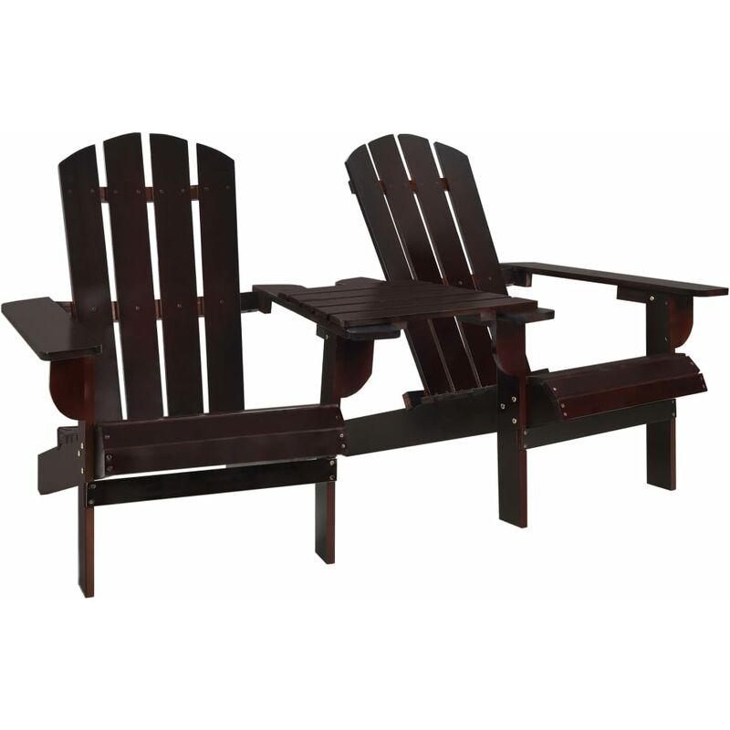 Zqyrlar - Chaise de jardin Adirondack Bois de sapin massif Marron