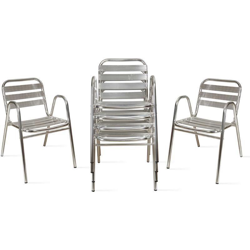 chaise empilable alluminium