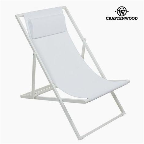Chaise de jardin Aluminium Textilène Blanche by Craftenwood