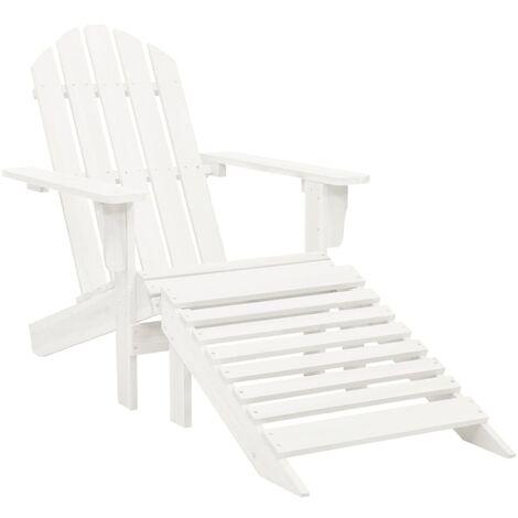 Chaise de jardin avec pouf Bois Blanc
