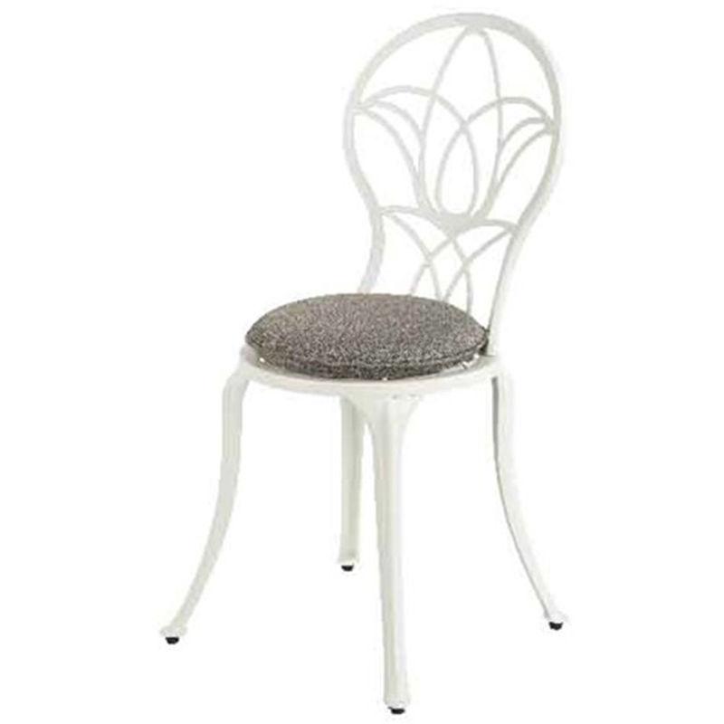 Jardideco - Chaise de jardin bistro Saint-Tropez - blanc cassé