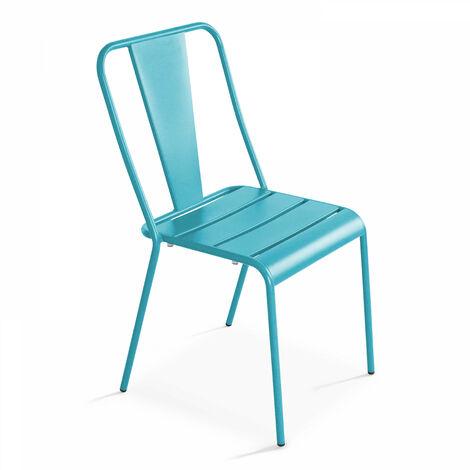 Chaise de jardin bistrot en métal
