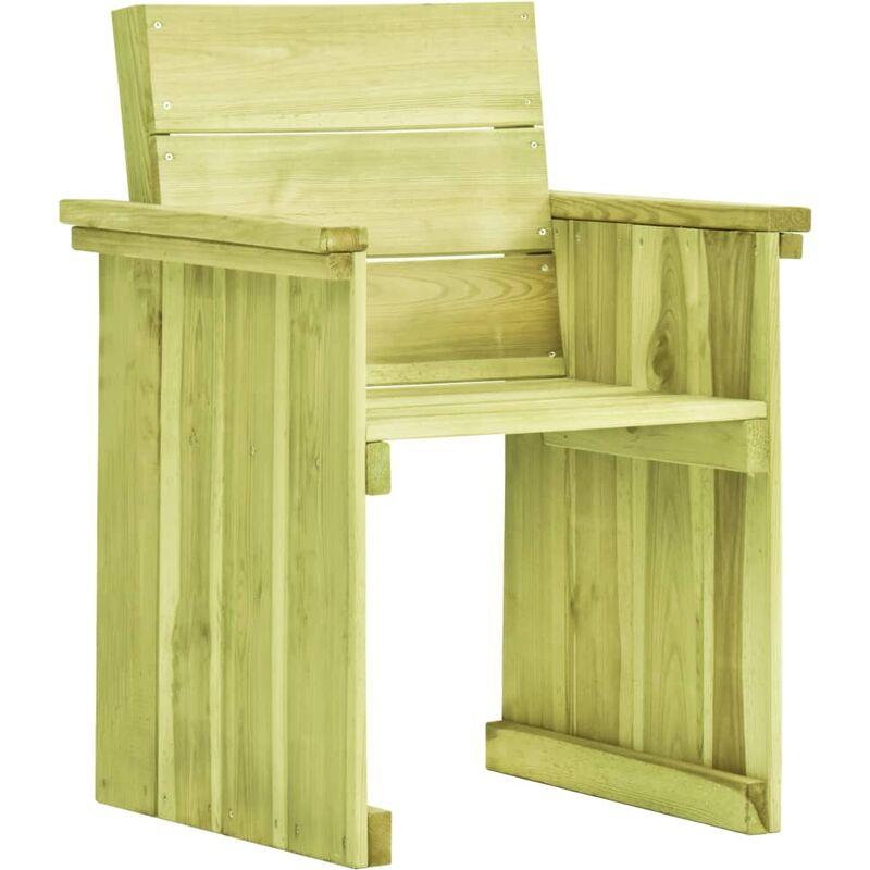 Chaise de jardin Bois de pin imprégné