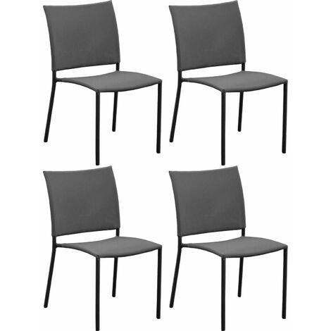 Chaise de jardin Bonbon pour enfant (Lot de 4) Gris - Gris