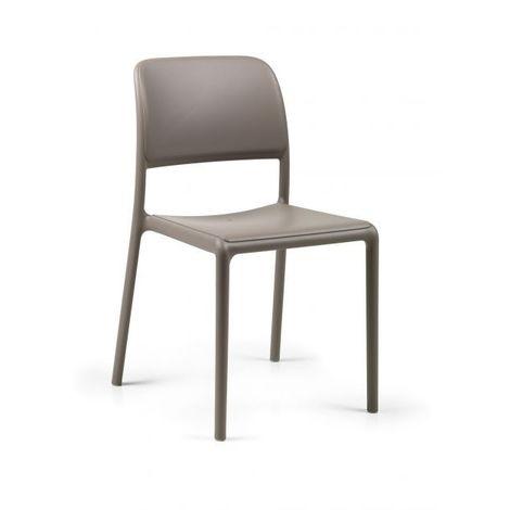 Chaise de jardin colorée & design Riva Bistrot NARDI - Empilable- Sans accoudoir - Embouts anti-dérapants
