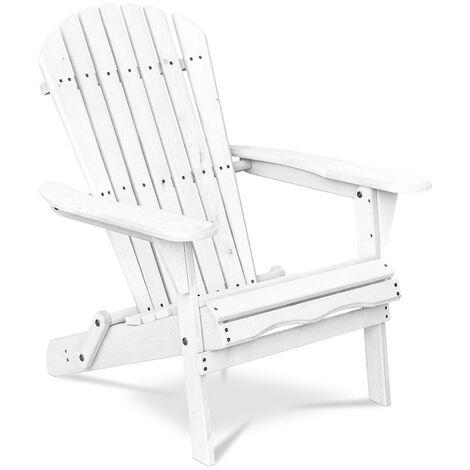 Chaise de jardin de style Adirondack - Bois Blanc