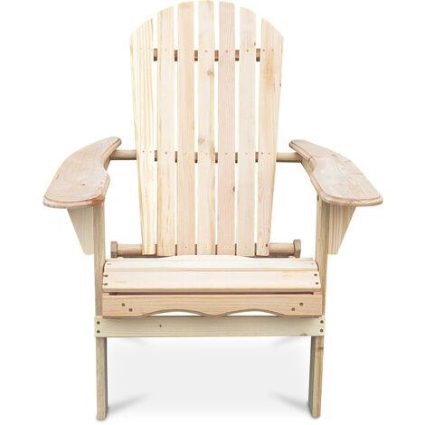 Chaise de jardin de style Adirondack - Bois Bois naturel clair