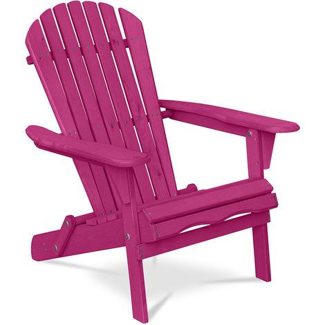 Chaise de jardin de style Adirondack - Bois Rose