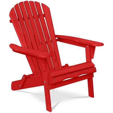 Chaise de jardin de style Adirondack - Bois Rouge