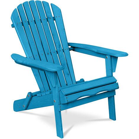 Chaise de jardin de style Adirondack - Bois Turquoise