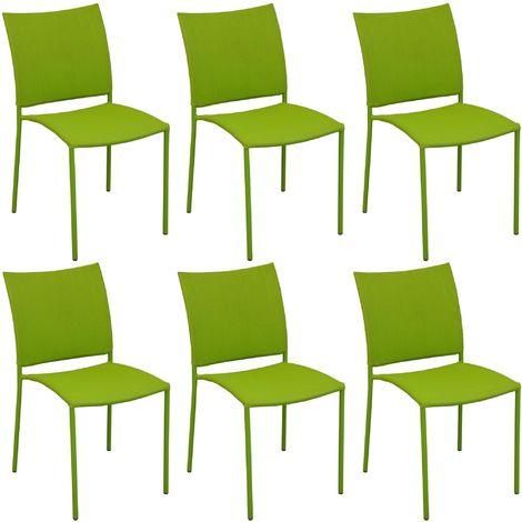 Chaise de jardin design Bonbon (Lot de 6) Mousse - Mousse