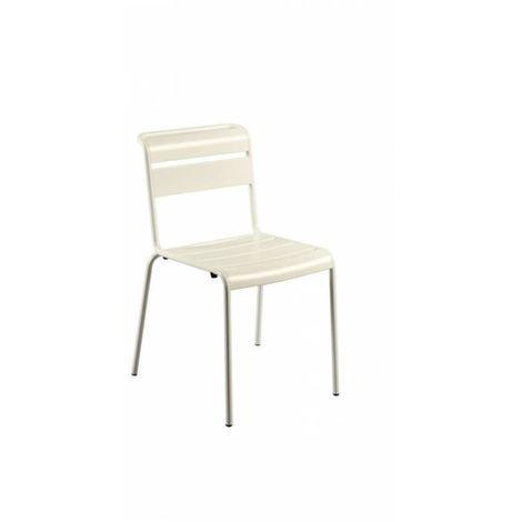 Chaise de jardin design Lutetia ZENDART DESIGN - Blanc - Extérieur - Résistant aux UV - Blanc