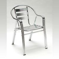 Chaise de jardin empilable en Alu 'TWIN'