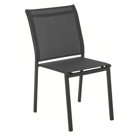 Chaise de jardin empilable Essentia - Gris ardoise et quartz - Gris