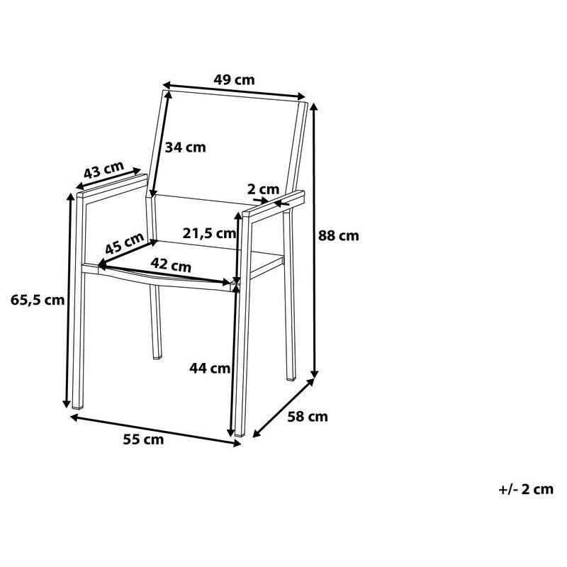 Chaise de jardin en acier inox et rotin GROSSETO - 4171