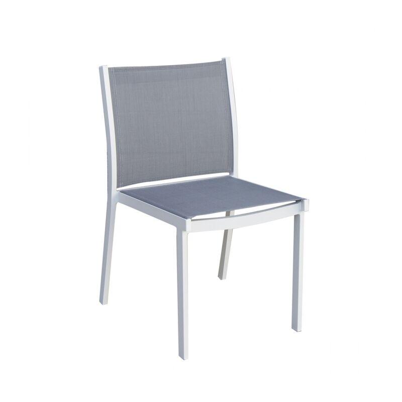Chaise de jardin en Aluminium design Panama TRESI Gris Blanc Extérieur