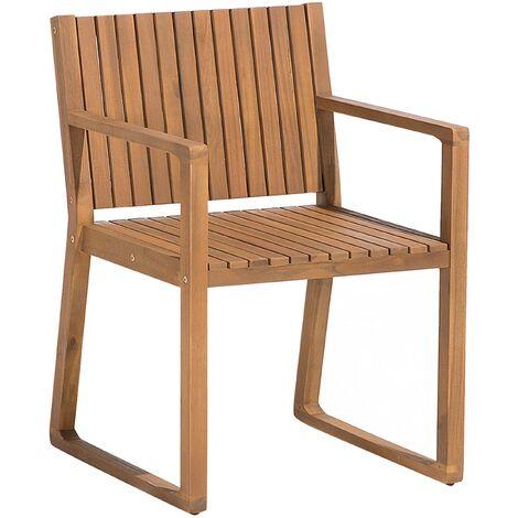 Chaise de jardin en bois d'acacia